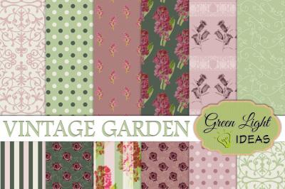Vintage Garden Digital Papers