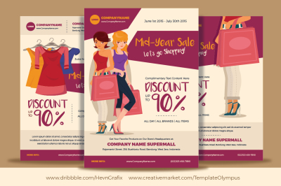 3 Fashion Sales & Events Flyers