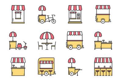 Street food retail. Food truck.