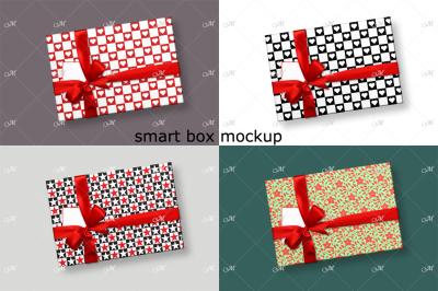 Smart Gift Box Mockup. Top view. PSD