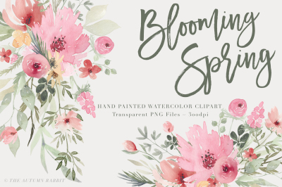Blooming Spring - Watercolor Flowers