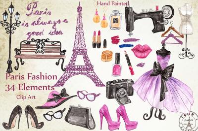 Paris fashion clipart