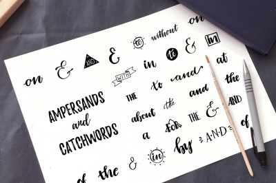 Ampersands and catchwords collection