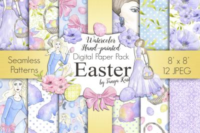 Easter Spring Digital Papers Pack