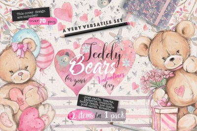 Teddy-bears set 2 in 1