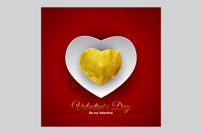 Valentine's Day Heart Symbol. Love and Feelings Background Design. Vector Illustration and Raster Version
