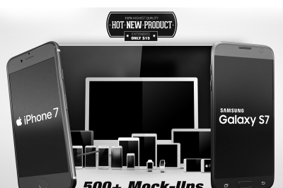 500+ Screen Devices Mock Up Pack