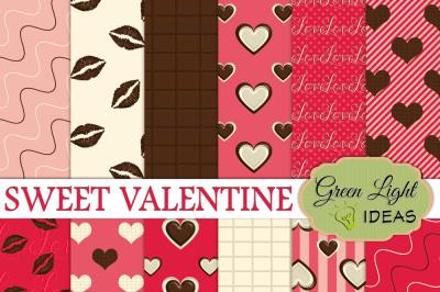 Sweet Valentine Digital Papers