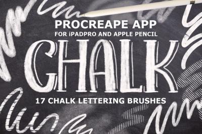 17 Procreate Chalk Lettering Brushes