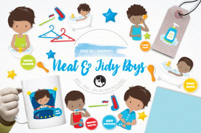 Neat & Tidy Boys graphics and illustrations
