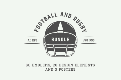 Football and Rugby Emblems Bundle