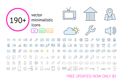 190+ Vector Outline Icons