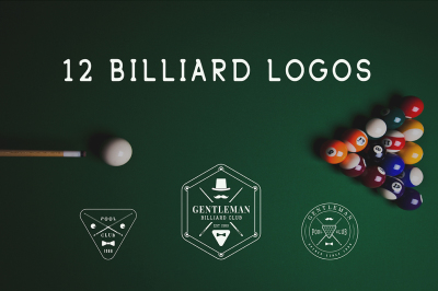 12 Billiard Emblems