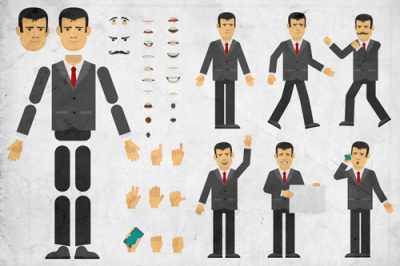 Businessman creation set