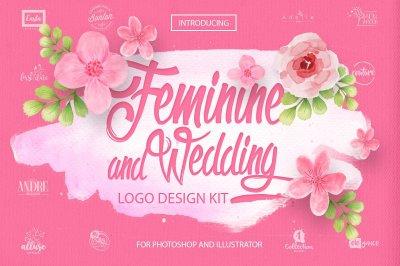 Feminine & Wedding Design Kit