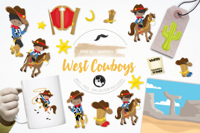 West Cowboys graphics and illustrations