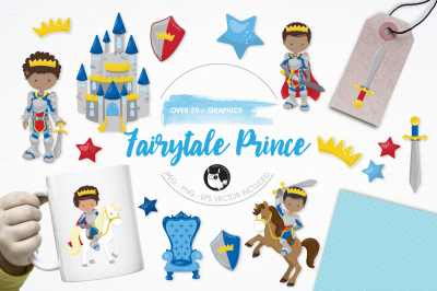 Fairytale Prince graphics and illustrations