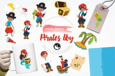 Pirates Boy graphics and illustrations