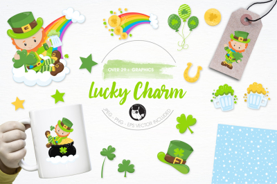 Lucky Charm graphics and illustrations