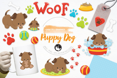 Puppy Dog graphics and illustrations