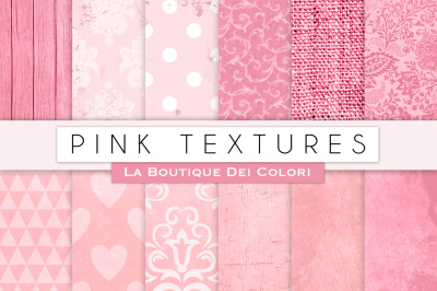 Pink Textured Digital Papers