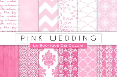 Pink Wedding Digital Papers