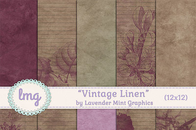 Vintage Linen Shabby Papers