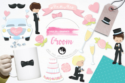 Groom graphics and illustrations