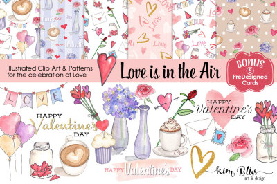 Valentine's Day/Love Clip Art, Patterns & Cards