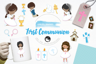 First Communion graphics and illustrations