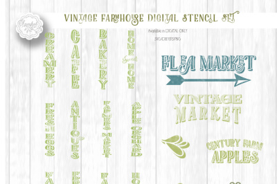 Bundle of Vintage Country Farm Designs for Wood Sign Stenciling - Cutting Files in SVG/DXF/EPS/PNG