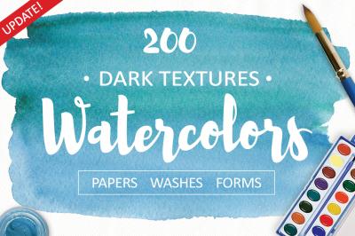 Watercolor Dark Textures. 200+