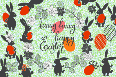 Funny Easter bunnies