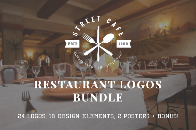 Vintage Restaurant Emblems Bundle