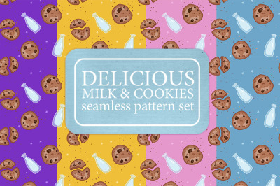Milk & Chocolate chip cookie pattern