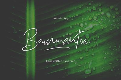 Bammantoe Typeface