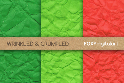 Wrinkled Crumpled BrightDigital Paper Scrapbook