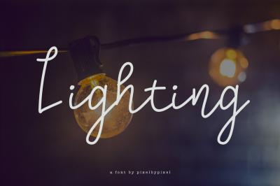 Lighting Script Font