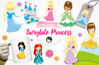 Fairytale Princess graphics and illustrations