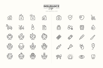 Insurance and Medical icons