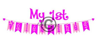 First Birthday Banner Bunting Svg, Dxf