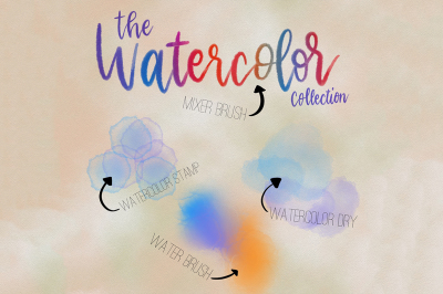 The Watercolor Collection for Procreate App