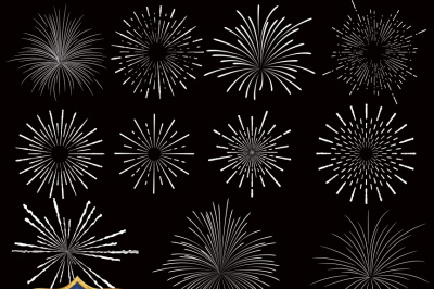 Fireworks Vector Clipart