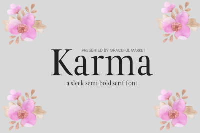 Karma - Sleek Semi Bold Serif Font