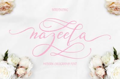 Nazeefa Script Font Bonus Ornament