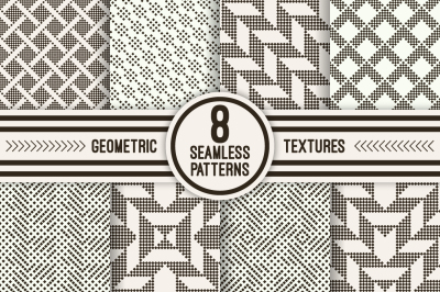Stylish geometric seamless patterns