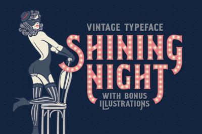 Shining Night font + bonus
