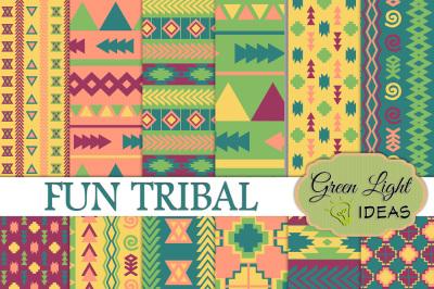 Fun Tribal Digital Papers