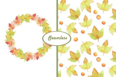 Autumn patterns + wreath