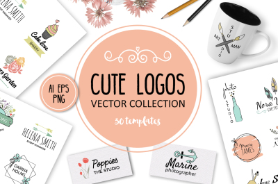 Cute Vector Logos Collection